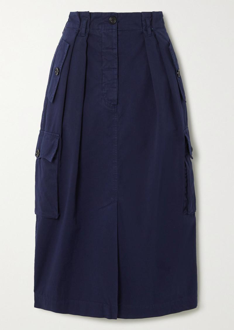 Dries Van Noten Savannah Cotton-twill Skirt