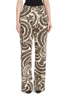 Dries Van Noten Scribble Printed Boot-Cut Jeans