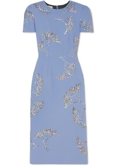 Dries Van Noten Sequin-embellished Crepe Midi Dress