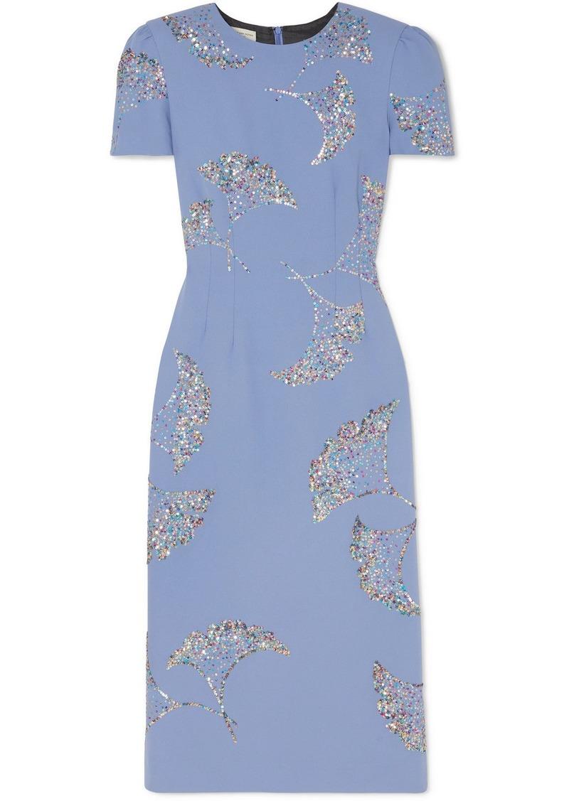 Dries Van Noten Sequin-embellished Crepe Midi Dress