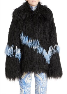 Dries Van Noten Shaggy Faux Fur Jacket