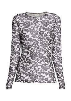 Dries Van Noten Sheer Lace Top