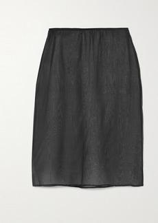 Dries Van Noten Silk-organza Skirt