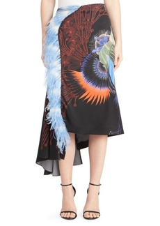 Dries Van Noten Feather Midi Skirt