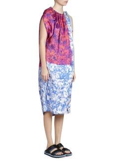 Dries Van Noten Sleeveless Floral Bi-Print Dress