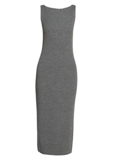 Dries Van Noten Sleeveless Knit Midi Dress
