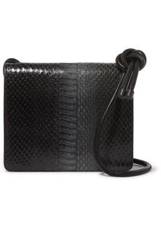 Dries Van Noten Snake-effect Leather Shoulder Bag