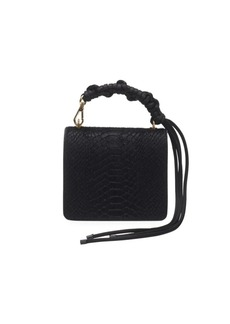 Dries Van Noten Snake-Print Leather Flap Shoulder Bag
