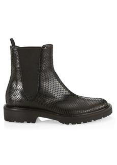 Dries Van Noten Snakeskin-Embossed Leather Chelsea Boots