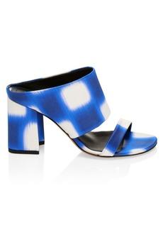 Dries Van Noten Stephen Stripe Block-Heel Sandals