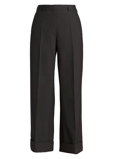 Dries Van Noten Straight-Leg Wool-Blend Trousers