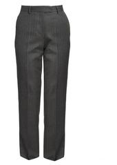 Dries Van Noten Straight-Leg Wool Pinstripe Flat Pants