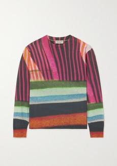 Dries Van Noten Striped Cotton-blend Sweater