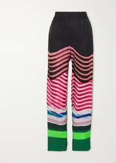 Dries Van Noten Striped Faille Wide-leg Pants