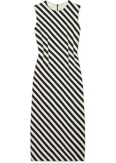 Dries Van Noten Striped Satin Midi Dress