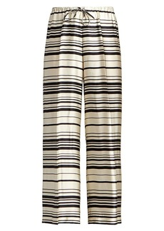 Dries Van Noten Striped Stretch-Silk Wide-Leg Pants