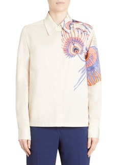 Dries Van Noten Tattoo Print Button-Down Shirt