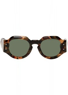 Dries Van Noten Tortoiseshell Linda Farrow Edition 174 C3 Angular Sunglasses