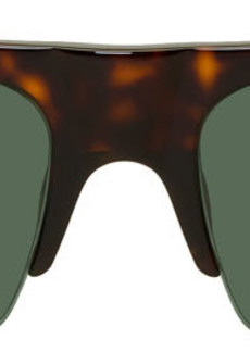 Dries Van Noten Tortoiseshell Linda Farrow Edition Bridge Sunglasses