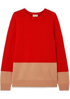 Dries Van Noten Two-tone Cashmere Sweater