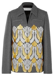 Dries Van Noten Valery Embroidered Metallic Wool-blend Jacket