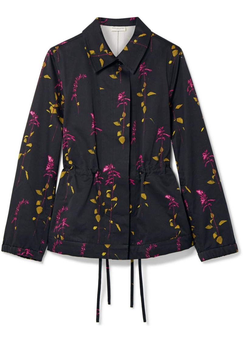 Dries Van Noten Varella Floral-print Cotton-twill Jacket
