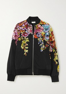 Dries Van Noten Oversized Sequin-embellished Shell Bomber Jacket