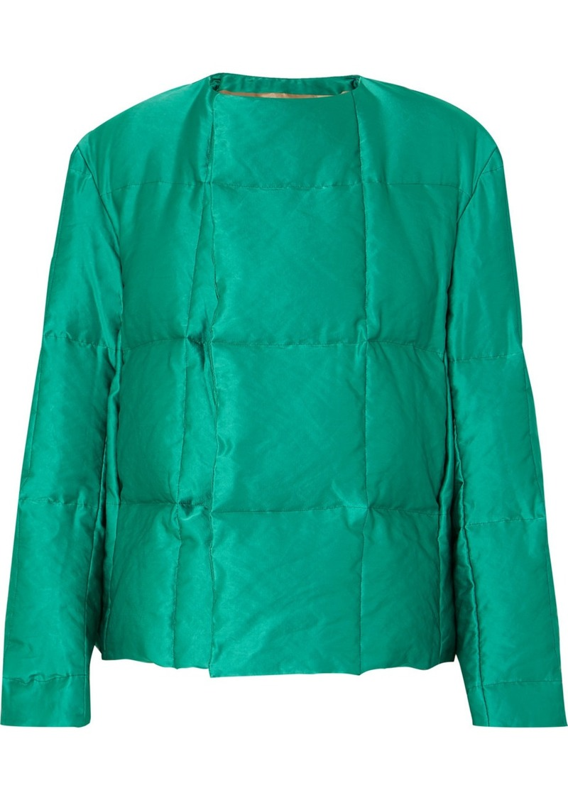Dries Van Noten Vigo Quilted Satin Down Coat