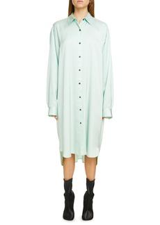 Women's Dries Van Noten Dayley Oversize High-Low Long Sleeve Shirtdress
