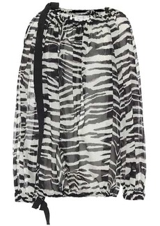 Dries Van Noten Zebra-printed cotton blouse