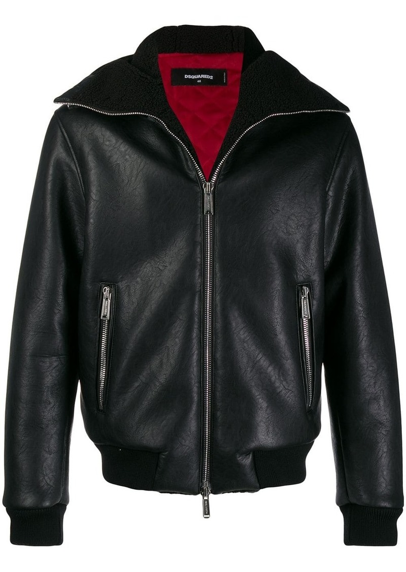 Dsquared2 shearling lined jacket