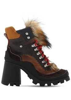Dsquared2 100mm Qween Peak Leather Boots