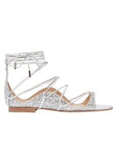 Dsquared2 10mm Glittered Lace-up Sandals