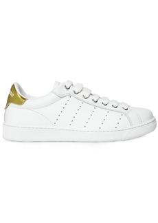 Dsquared2 10mm Leather Sneakers W/ Metallic Detail