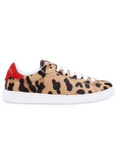 Dsquared2 10mm Leopard Printed Ponyskin Sneakers