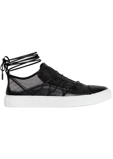 Dsquared2 10mm Riri Leather & Mesh Sneakers