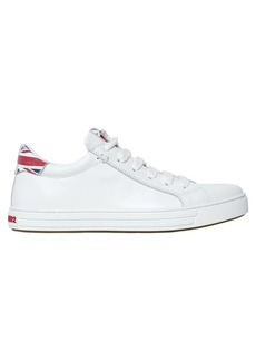 Dsquared2 10mm Tennis Club Flag Leather Sneakers