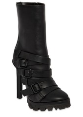 Dsquared2 120mm Buckled Leather Ankle Boots