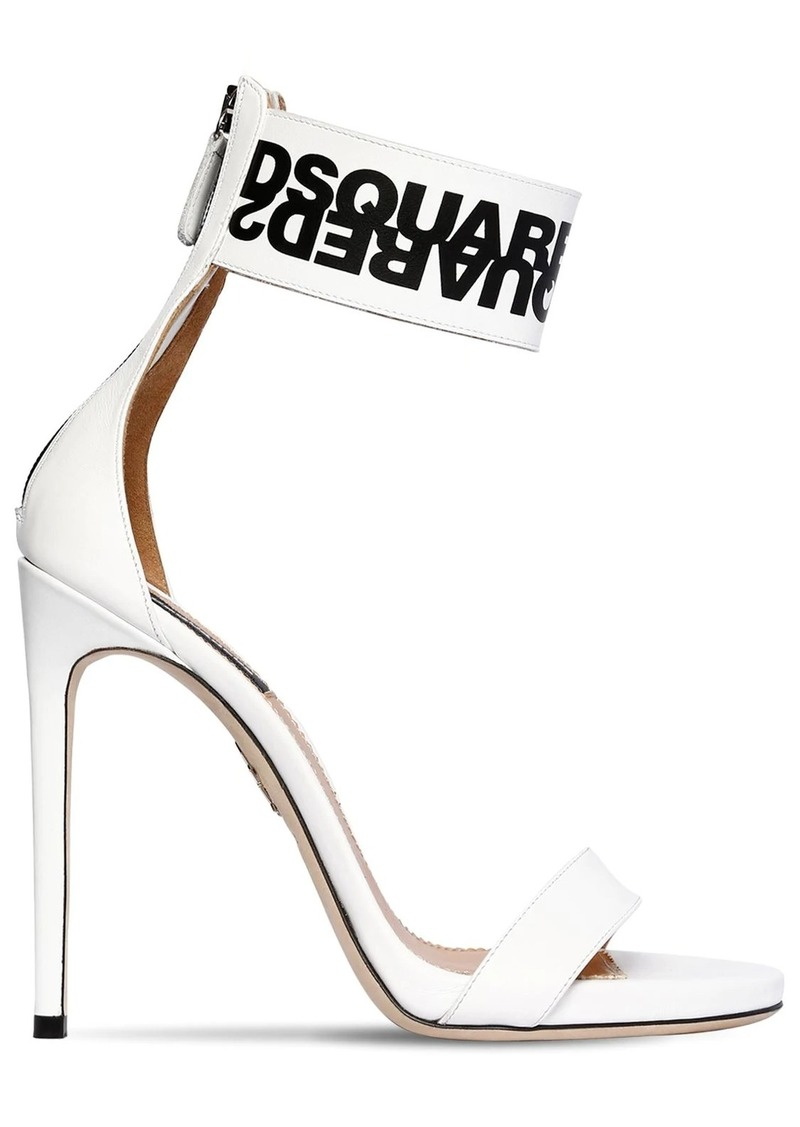 Dsquared2 120mm Logo Print Leather Sandals