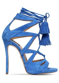 Dsquared2 120mm Suede Lace-up Sandals W/ Tassels