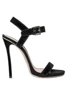 Dsquared2 120mm Velvet & Suede Sandals