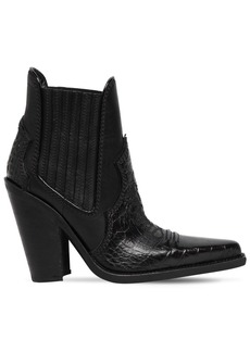 Dsquared2 120mm Western Croc Embossed Boots