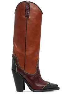 Dsquared2 120mm Western Leather Tall Boots
