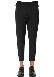 Dsquared2 14cm Techno Skinny Wool Blend Cady Pants