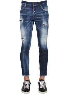 Dsquared2 15cm Skinny Dan Cotton Denim Jeans