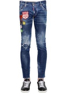 Dsquared2 16.5cm Clement Patch Cotton Denim Jeans