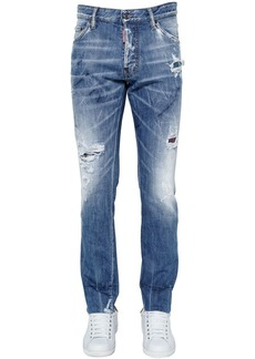 Dsquared2 16.5cm Cool Guy Plaid & Denim Jeans