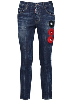Dsquared2 16.5cm D25 Patch Skater Denim Jeans