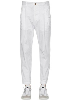 Dsquared2 16.5cm Pleated Cotton Canvas Pants