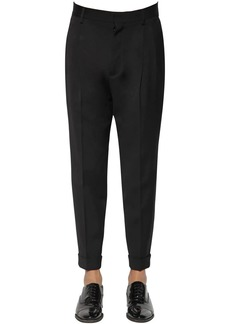 Dsquared2 16.5cm Pleated Virgin Wool Blend Pants